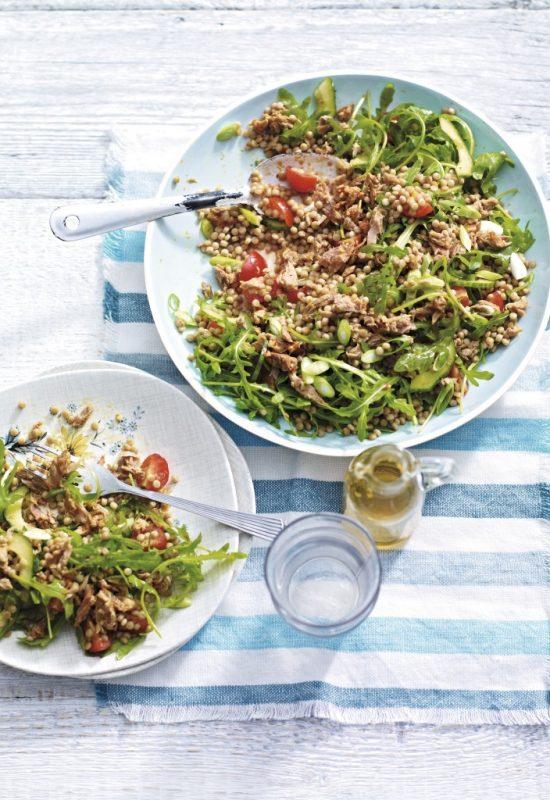 Mediterranean-Tuna-Giant-Couscous-Salad